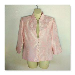 Jessica Howard Pink Blush 8 Beaded Evening Blazer